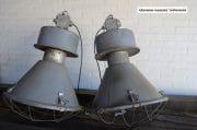 Grijze industriele fabriekslampen H72 D48 2