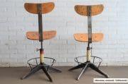 Industriele bureaustoelen witte onderzijde 10