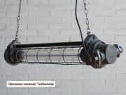 Donkergrijze industriele kleine TL lamp 90 cm 2