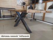 eettafel matrix poot barnwood blad 250 x 88 x79 11