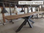 eettafel matrix poot barnwood blad 250 x 88 x79 5