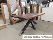 matrixpoot tafel hardhouten wagonplanken 180 x 90 1