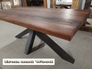 matrixpoot tafel hardhouten wagonplanken 180 x 90 10 (Medium)
