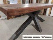 matrixpoot tafel hardhouten wagonplanken 180 x 90 12