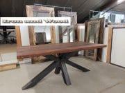 matrixpoot tafel hardhouten wagonplanken 180 x 90 2