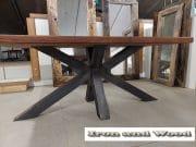 matrixpoot tafel hardhouten wagonplanken 180 x 90 3