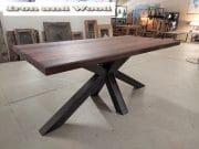 matrixpoot tafel hardhouten wagonplanken 180 x 90 5