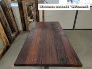 matrixpoot tafel hardhouten wagonplanken 180 x 90 6