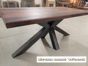 matrixpoot tafel hardhouten wagonplanken 180 x 90 9