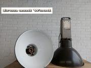 2 mazda lampen grijs emaille h75 d50 6