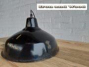 7 zwarte emaille lamp d35 h22 4